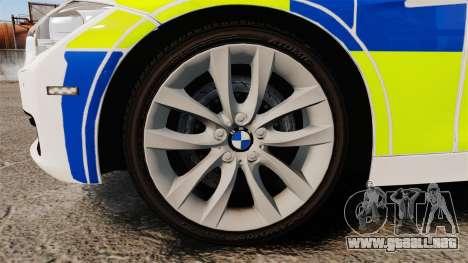 BMW 330d Touring (F31) 2014 Police [ELS] para GTA 4 vista hacia atrás