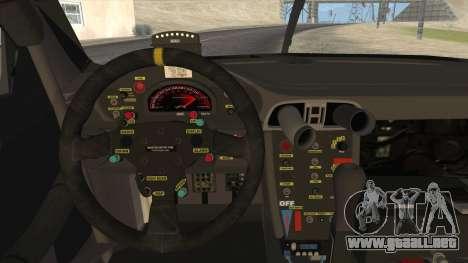 Porsche 911 GT3 RSR para GTA San Andreas vista hacia atrás