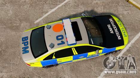 Audi S4 2013 Metropolitan Police [ELS] para GTA 4 visión correcta