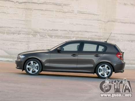 Inicio pantallas BMW 116i para GTA 4 octavo de pantalla