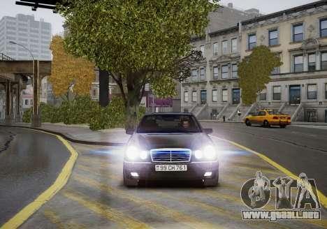 Mercedes-Benz E280 Beta para GTA 4 vista interior