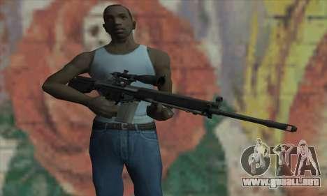 Rifle de francotirador de L4D para GTA San Andreas tercera pantalla