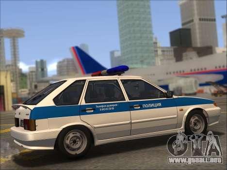 VAZ 2114 Policía DPS para vista inferior GTA San Andreas