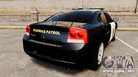 Dodge Charger 2010 LCHP [ELS] para GTA 4 Vista posterior izquierda