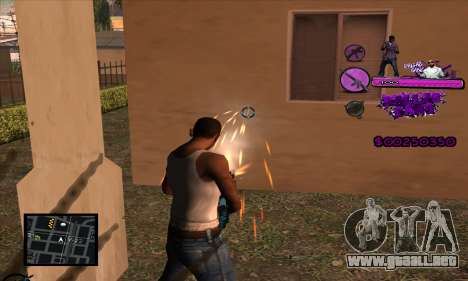 C-HUD Ballas Gang para GTA San Andreas tercera pantalla