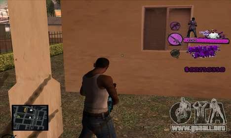C-HUD Ballas Gang para GTA San Andreas segunda pantalla
