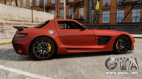 Mercedes-Benz SLS 2014 AMG Black Series para GTA 4 left