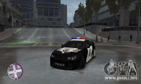 Holden Monaro CV8-R Police para GTA 4 vista hacia atrás