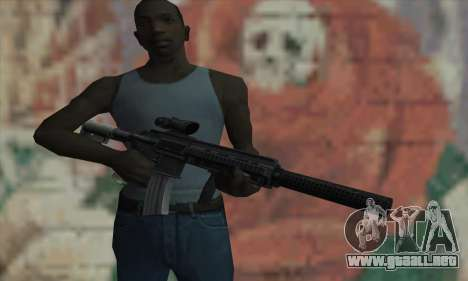 M416 with ACOG sight and silenced para GTA San Andreas tercera pantalla