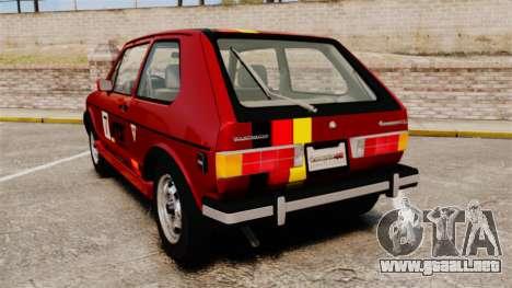 Volkswagen Rabbit GTI 1984 para GTA 4 Vista posterior izquierda