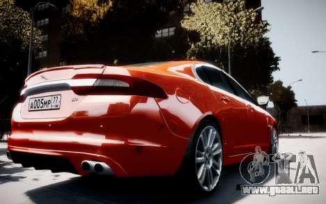 Jaguar XF-R 2012 v1.1 para GTA 4 visión correcta
