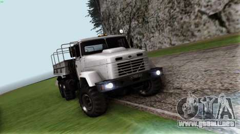 Kraz 6322 para GTA San Andreas vista hacia atrás