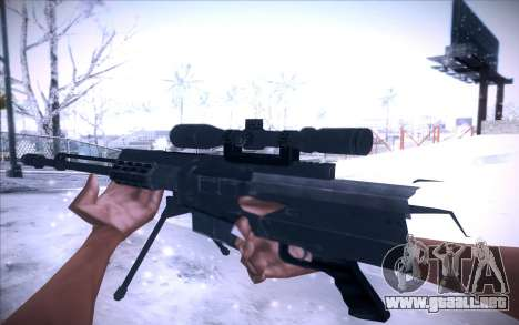 Barrett AS50 para GTA San Andreas segunda pantalla