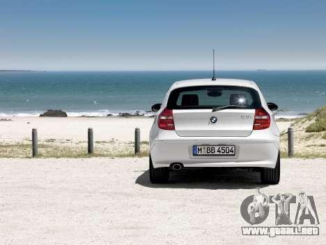 Inicio pantallas BMW 120i para GTA 4 adelante de pantalla