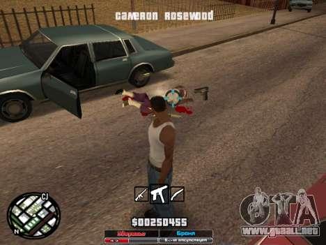 Cleo Hud Cameron Rosewood para GTA San Andreas sucesivamente de pantalla