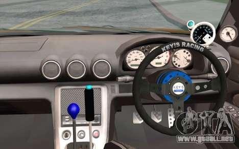 Nissan Silvia S15 GT Uras para GTA San Andreas vista hacia atrás