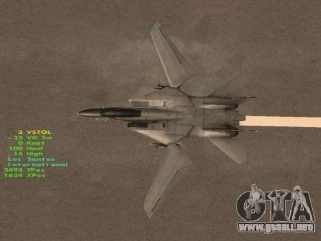 F-14 LQ para vista inferior GTA San Andreas