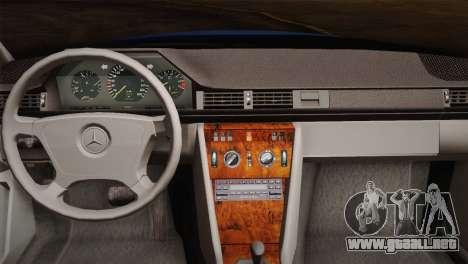 Mercedes-Benz E320 W124 para visión interna GTA San Andreas