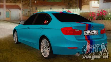 BMW 328d 2014 para GTA San Andreas left