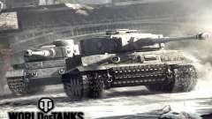 La pantalla de inicio de World of Tanks para GTA San Andreas