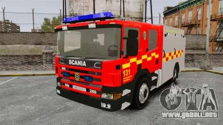 Scania 94D 260 BAS1 Stockholm Fire Brigade [ELS] para GTA 4