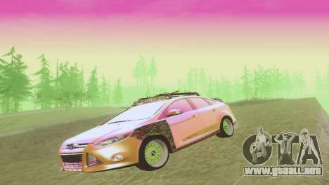 El Ford Focus Sedán Hellaflush para vista lateral GTA San Andreas