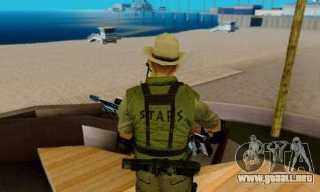 Resident Evil Apocalypse S.T.A.R.S. Sniper Skin para GTA San Andreas novena de pantalla