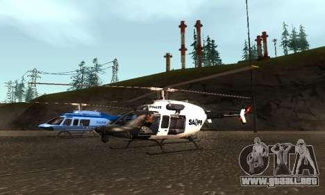 Bell 407 SAPD para la visión correcta GTA San Andreas