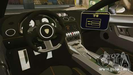 Lamborghini Gallardo Hungarian Police [ELS] para GTA 4 vista lateral
