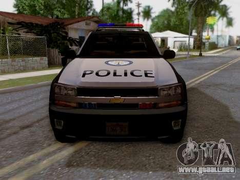Chevrolet TrailBlazer Police para la visión correcta GTA San Andreas