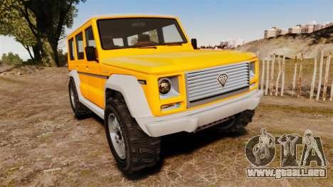 GTA V Benefactor Dubsta new wheels para GTA 4