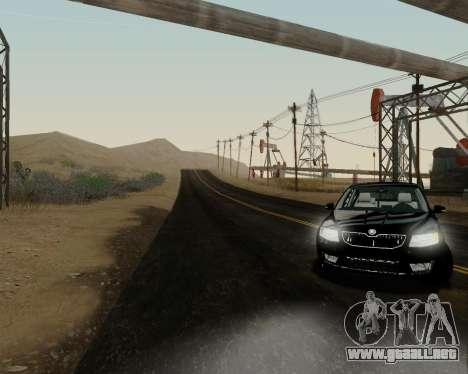 Skoda Octavia A7 para GTA San Andreas vista posterior izquierda