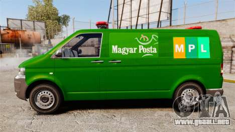 Volkswagen Transporter T5 Hungarian Post [ELS] para GTA 4 left