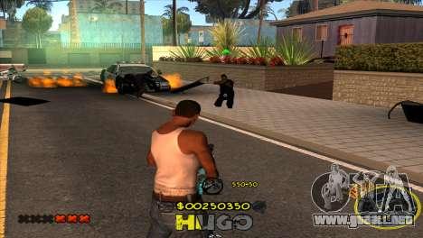 C-HUD Vagos by Hugo para GTA San Andreas sucesivamente de pantalla
