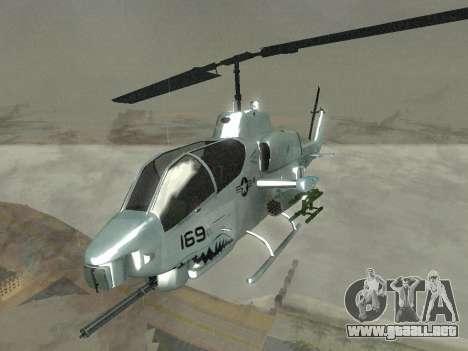 AH-1W Super Cobra para visión interna GTA San Andreas