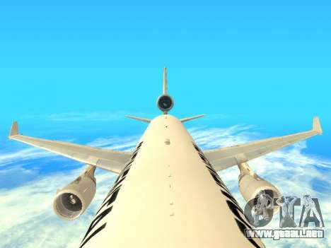 McDonnell Douglas MD-11 Continental Airlines para visión interna GTA San Andreas