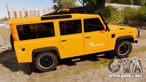 Land Rover Defender tecnovia [ELS] para GTA 4 left