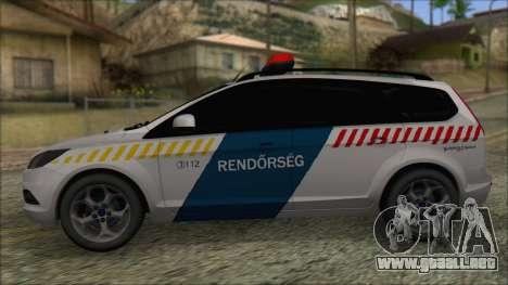 Ford Focus 2008 Station Wagon Hungary Police para GTA San Andreas left