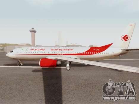 Boeing 737-800 Air Algerie para GTA San Andreas vista posterior izquierda