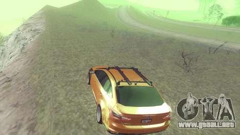 El Ford Focus Sedán Hellaflush para GTA San Andreas vista hacia atrás