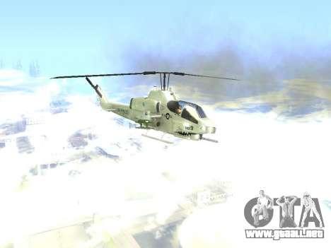 AH-1W Super Cobra para GTA San Andreas vista hacia atrás