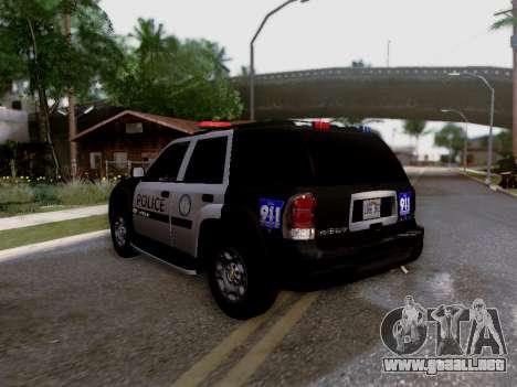 Chevrolet TrailBlazer Police para visión interna GTA San Andreas