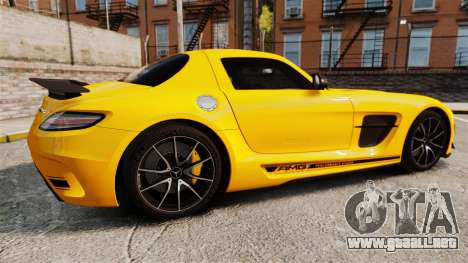Mercedes-Benz SLS 2014 AMG Performance Studio para GTA 4 left