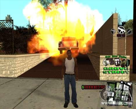 C-HUD West Side Grove Street para GTA San Andreas tercera pantalla