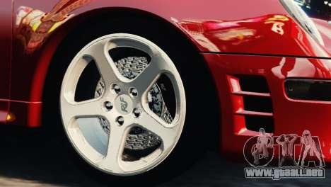 RUF CTR2 1995 para GTA 4 visión correcta