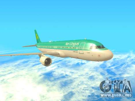 Airbus A320-200 Aer Lingus para GTA San Andreas left