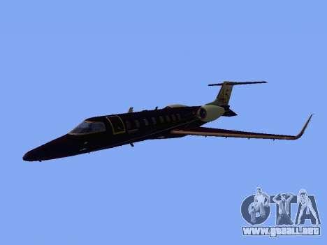 Bombardier Learjet 45 para GTA San Andreas left