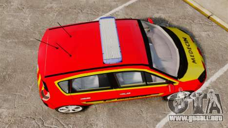 Renault Scenic Medicin v2.0 [ELS] para GTA 4 visión correcta
