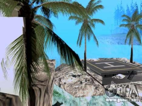 Nueva isla V2.0 para GTA San Andreas segunda pantalla