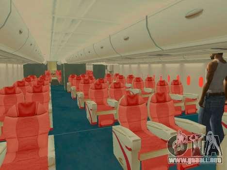 Airbus  A380-800 Sichuan Airlines para las ruedas de GTA San Andreas